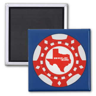 Sosténgalos imán de la ficha de póker (rojo - el b