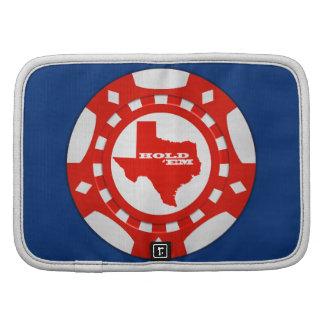 Sosténgalos planificador de la ficha de póker (roj