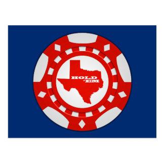 Sosténgalos postal de la ficha de póker (rojo - el