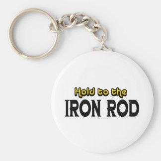Sosténgase al hierro Rod Llavero