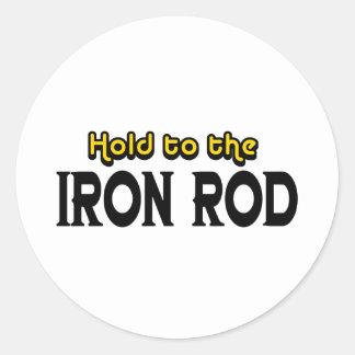 Sosténgase al hierro Rod Etiquetas