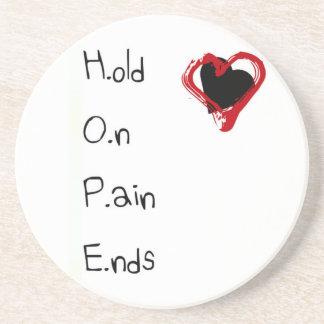 Sosténgase en extremos del dolor posavasos de arenisca