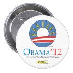 Sosténgase la nariz y vote el botón de Obama 2012 Pins