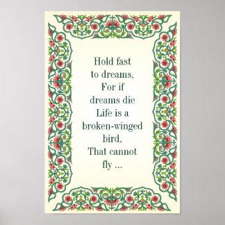 Sosténgase rápidamente a los sueños, porque si mue impresiones