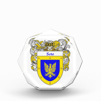 Soto Coat of Arms Family Crest Award