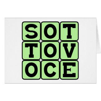 Sotto Voce In A Quiet Voice Italian Phrase Card