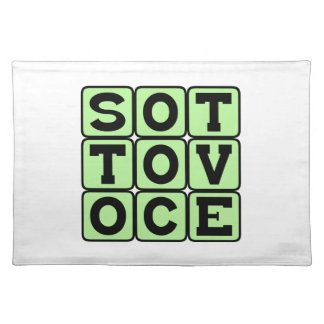 Sotto Voce In A Quiet Voice Italian Phrase Placemat