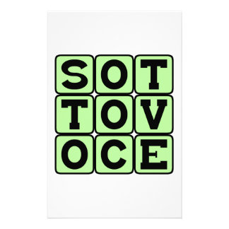Sotto Voce In A Quiet Voice Italian Phrase Stationery