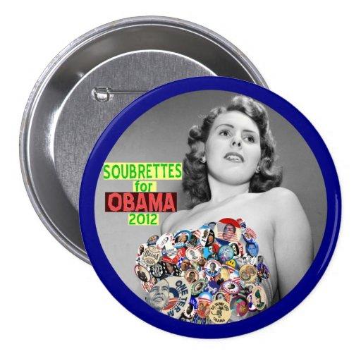Soubrettes for Obama 2012 Pinback Button