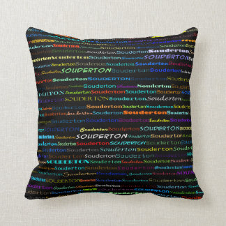 Souderton Text Design I Throw Pillow