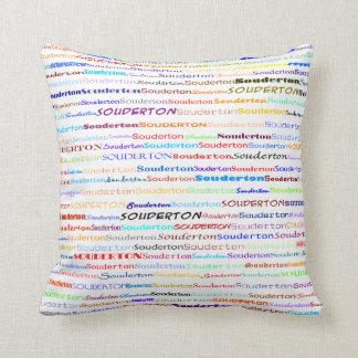 Souderton Text Design II Throw Pillow