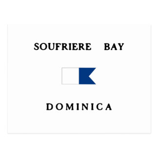Soufriere Bay Dominica Alpha Dive Flag Postcard