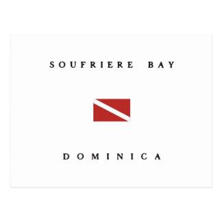 Soufriere Bay Dominica Scuba Dive Flag Postcard