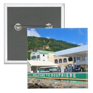 Soufriere Saint Lucia Pinback Button