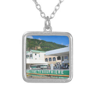 Soufriere Saint Lucia Silver Plated Necklace