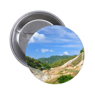 Soufriere Volcano in St. Lucia Pinback Button