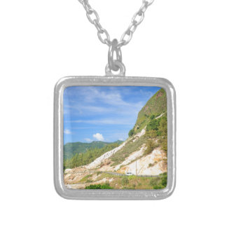 Soufriere Volcano in St. Lucia Silver Plated Necklace