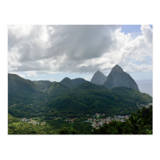 Soufriere y los Pitons St Lucia Postales