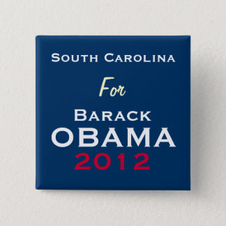SOUITH CAROLINA For OBAMA 2012 Campaign Button