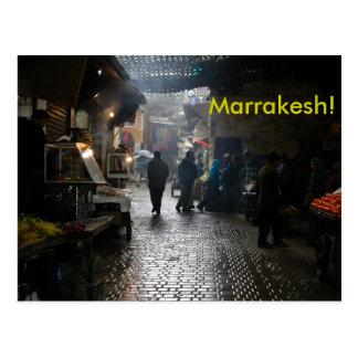 Souk de Marrakesh en Marruecos Tarjetas Postales