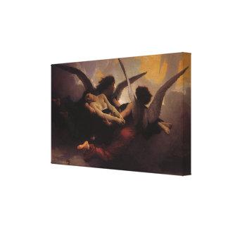 Soul Brought to Heaven by Bouguereau, Vintage Art Canvas Print