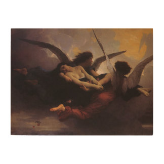 Soul Brought to Heaven by Bouguereau, Vintage Art Wood Canvases