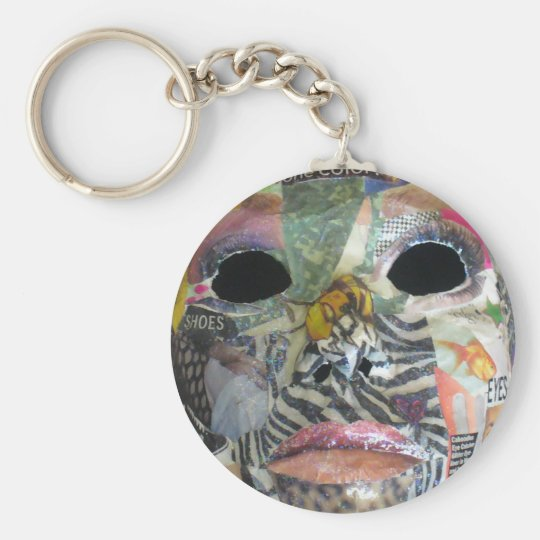 Soul Comes In All Colors Mask Keychain