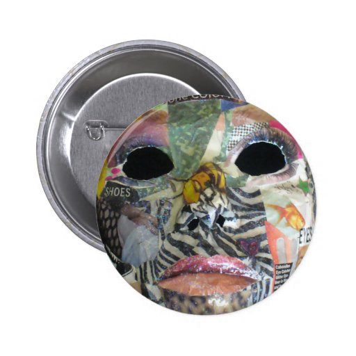 Soul Comes In All Colors Mask Pinback Buttons
