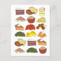 Soul Food Favorites Foodie Southern Cuisine Announcement Postcard