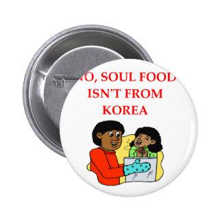 soul food pinback button