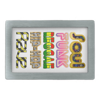 Soul, Funk, Reggae, Hip-Hop, Rave Rectangular Belt Buckle