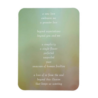 Soul Love- Soulful Poetry Rectangular Photo Magnet