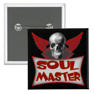 Soul Master Biker T shirts Gifts 2 Inch Square Button
