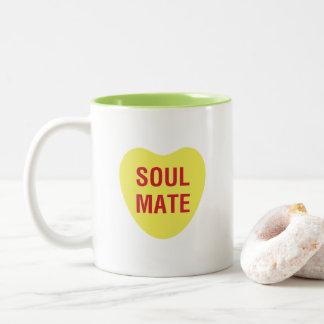 Soul Mate Heart Candy Love Mug in Yellow