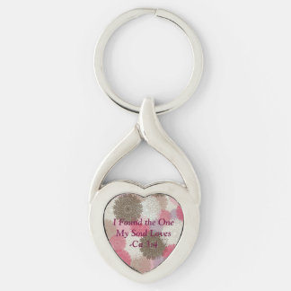 Soul Mate Twisted Heart Keychain