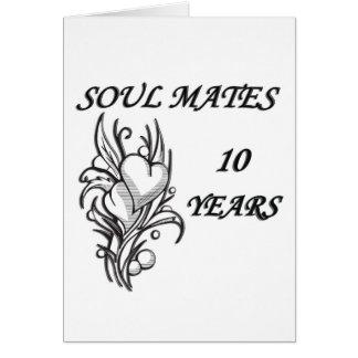 SOUL MATES 10 Years Greeting Card