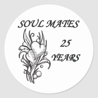 SOUL MATES 25 Years Classic Round Sticker