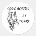 SOUL MATES 25 Years Round Sticker