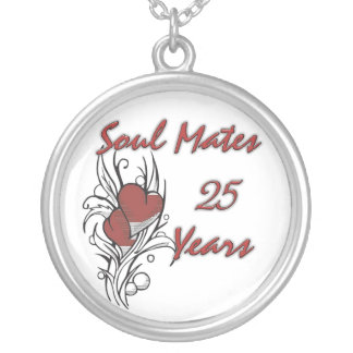 Soul Mates 25 Years Silver Plated Necklace