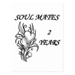 SOUL MATES 2 Years Postcard