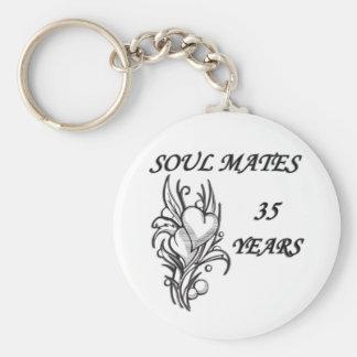 SOUL MATES 35 Years Keychain