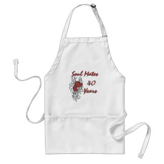 Soul Mates 40 Years Adult Apron