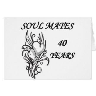 SOUL MATES 40 Years Card