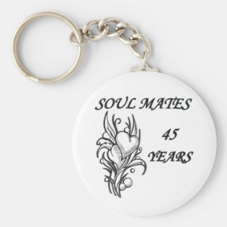 SOUL MATES 45 Years Basic Round Button Keychain