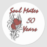 Soul Mates 50 Years Round Stickers