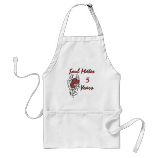 Soul Mates 5 Years Adult Apron