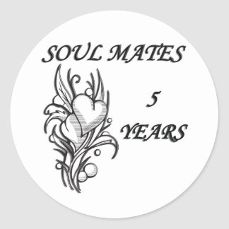 SOUL MATES 5 Years Classic Round Sticker