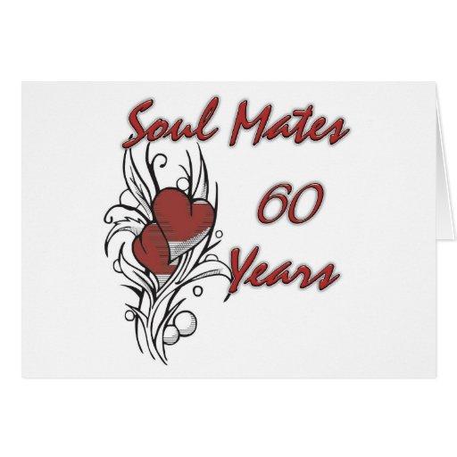 Soul Mates 60 Years Greeting Card