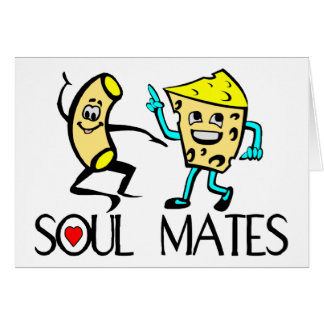 Soul Mates Best Friends Greeting Card