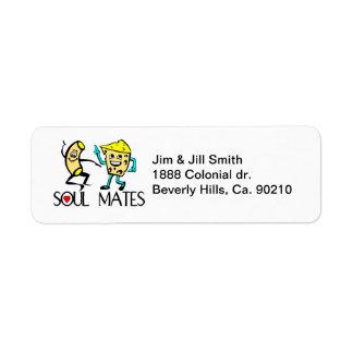 Soul Mates Best Friends Custom Return Address Labels
